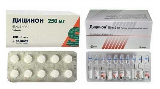 Дицинон при месячных: рекомендации по использованию препарата