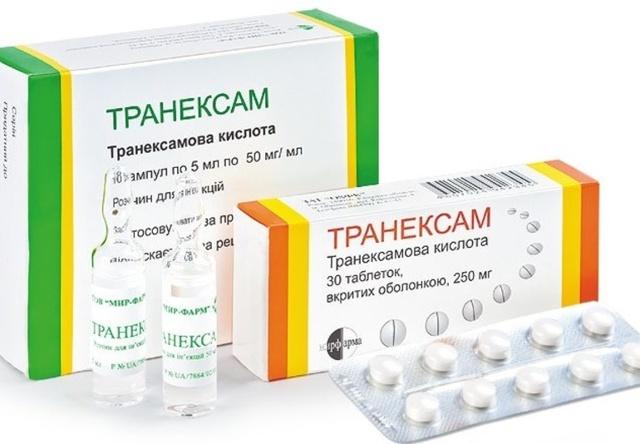 Транексам: инструкция по применению при месячных, противопоказания