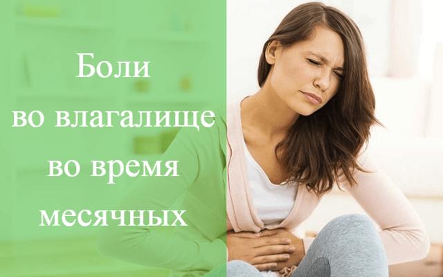 Болит влагалище при месячных: причины, характер боли, лечение
