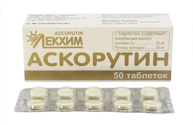 Аскорутин при месячных: показания и побочные эффекты