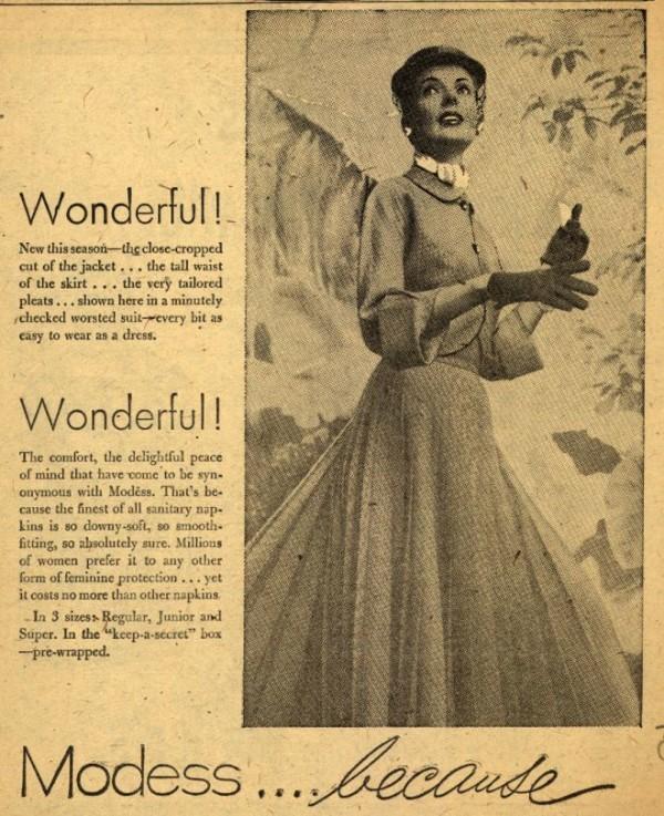 Чем пользовались женщины до появления прокладок и тампонов